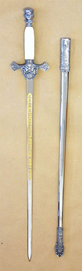 No. 4F/W - Etched Sword with White Handle